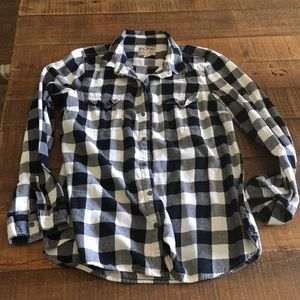 Old Nave Plaid Button Up